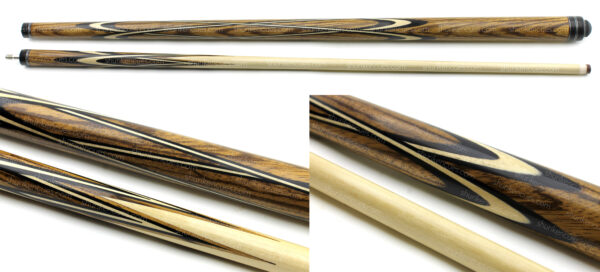 title-1-big amber crusader pool cue zebrano pool cue wood grain pool cue custom pool cue crusader pool cue natural grain fullsplice cue custom zebrano cue