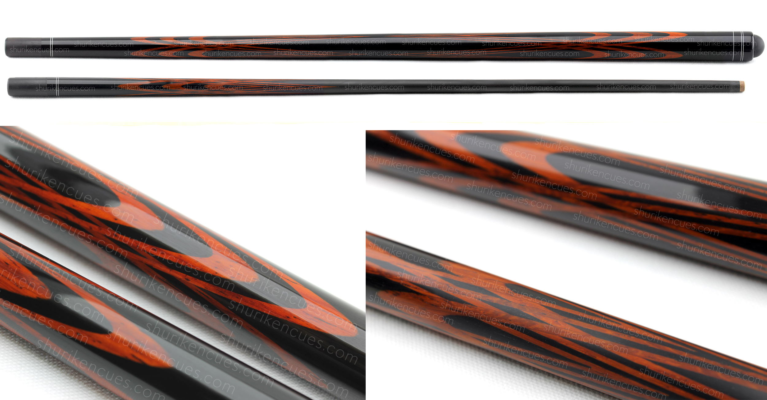 title-big tulip bloody red pool cue custom fullsplice cue tulip bloody red cue black tulip cue padauk splices bloody red cue fullsplice