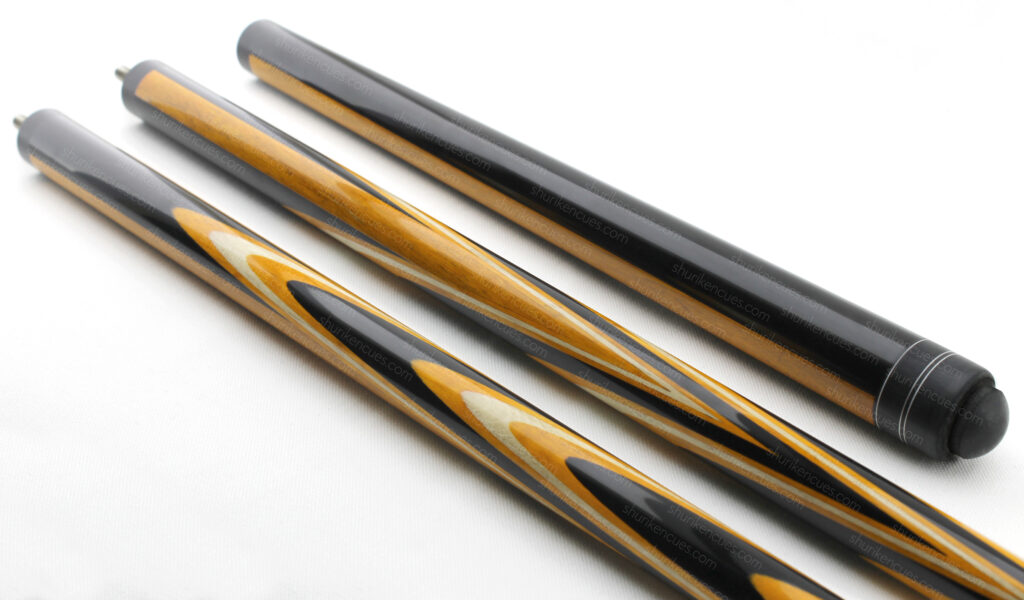 fullsplice cue hornbeam cue parrot cue fullsplice pool cue custom cue hornbeam pool cue full spliced cue dyed hornbeam cue yellow and black cue yellow pool cue beautiful pool cue cuemaker cue cuebuilder cue master cue order custom cue