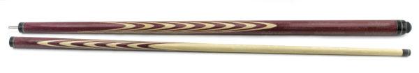 classic fullsplice amaranth custom pool cue Title-1