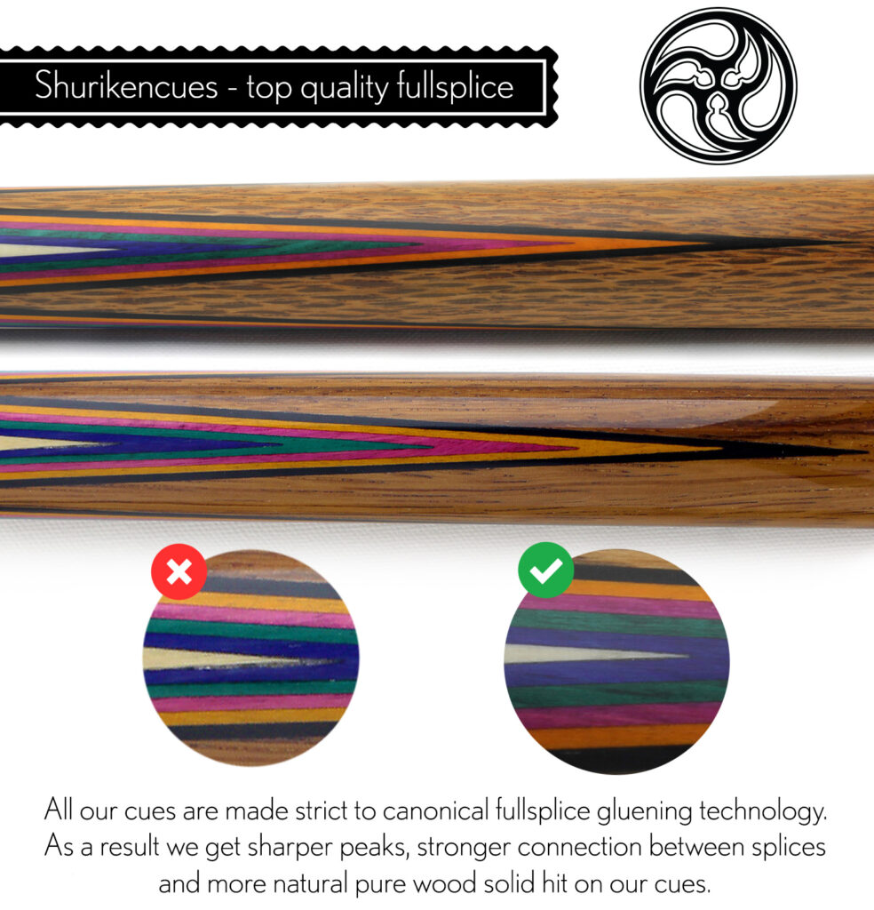 compare-sharps top quality fullsplice what is fullsplice high quality fullsplice cues fullsplice glue connection premium quality fullsplice connection fullsplice cuemaker pool cue fullsplice custom cues shuriken cues