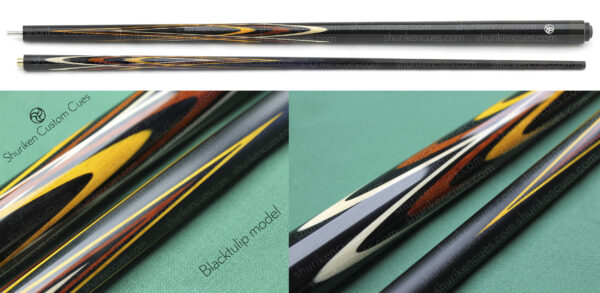 title-butt-clean-1-big blacktulip fullsplice cue blacktulip master cue blacktulip pool cue black tulip cue butterfly cue custom fullsplice cue custom cue cuemaker pool cue with custom parameters
