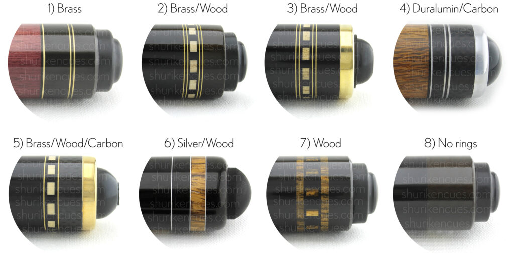 ringwork-cut rings cue rings cues silver rings brass rings wood rings billiards cues