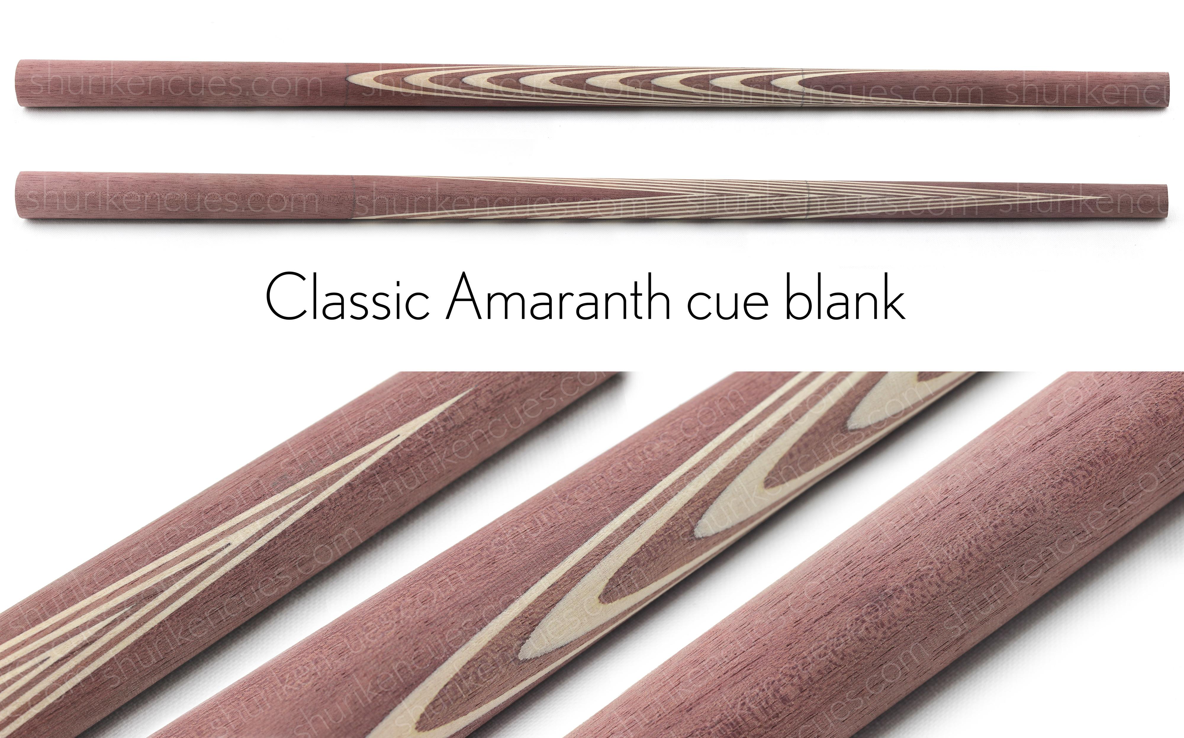 amaranth custom cue blank amaranth blank cue blank amaranth