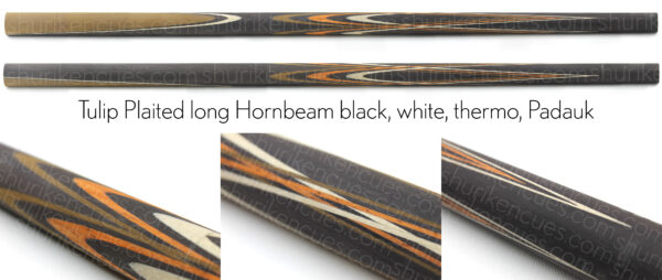 Tulip plaited long horn bl-wh-th-pad-4k