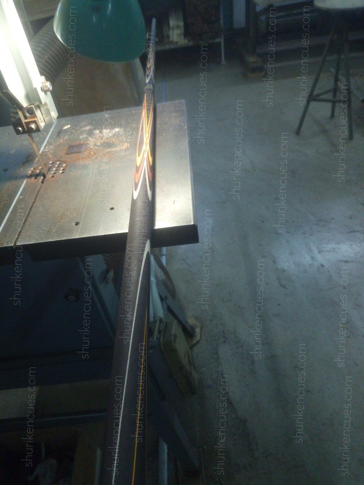blacktulip work process fullsplice cue making pool cue making cuemaker cuebuilder black hornbeam cue