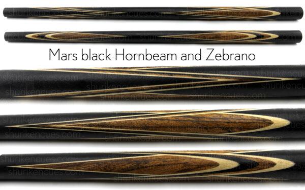 mars-black-hornbeam-zebrano-cue-blank