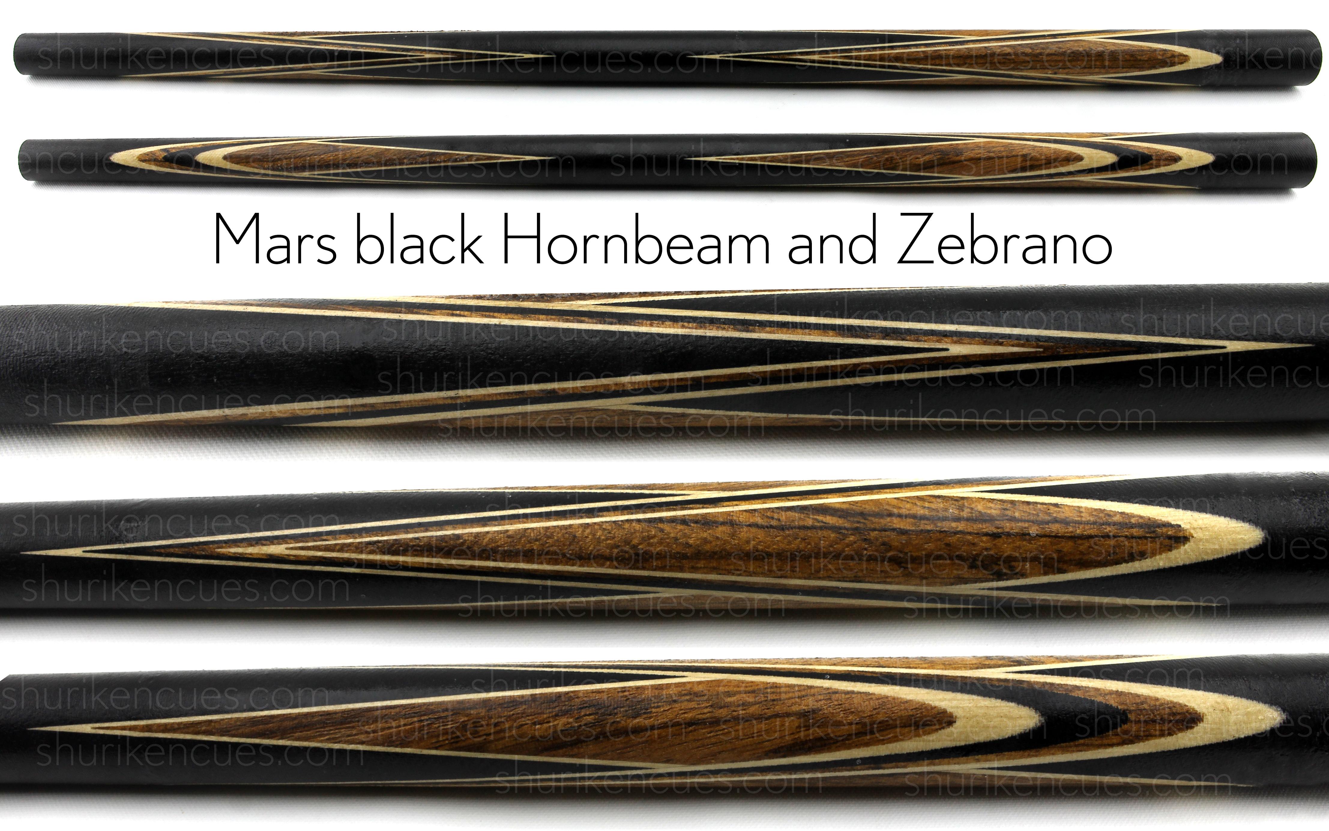 mars black hornbeam zebrano cue blank mars cue blank
